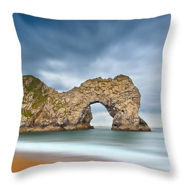 Durdle Door 1 Throw Pillow