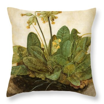 Durer Tuft Of Cowslips Throw Pillow by Granger