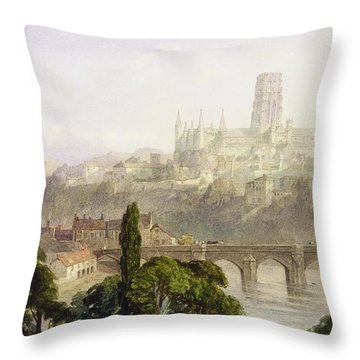 Durham Cathedral Throw Pillow by George Arthur Fripp