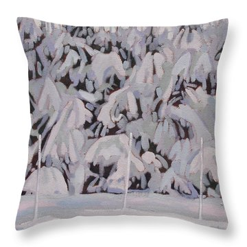 During The Storm Throw Pillow