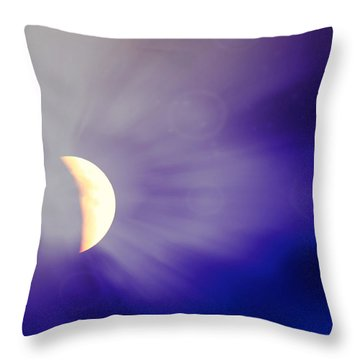 Aries Moon During The Total Lunar Eclipse 3 Throw Pillow