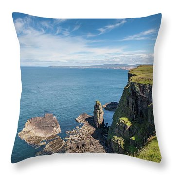Throw Pillow featuring the photograph Handa Island - Sutherland by Pat Speirs