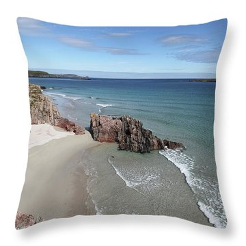 Throw Pillow featuring the photograph Durness - Sutherland by Pat Speirs