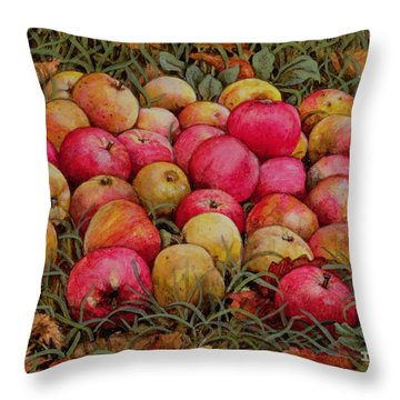 Durnitzhofer Apples Throw Pillow by Ditz