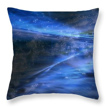Dusk And Planets Throw Pillow