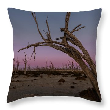 Dusk At Dumbleyung Lake Throw Pillow