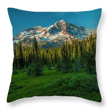 Dusk At Indian Henry Campground Throw Pillow