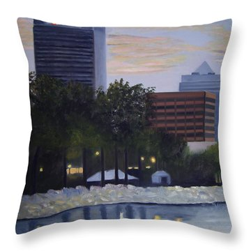 Dusk At Irish Fest Throw Pillow