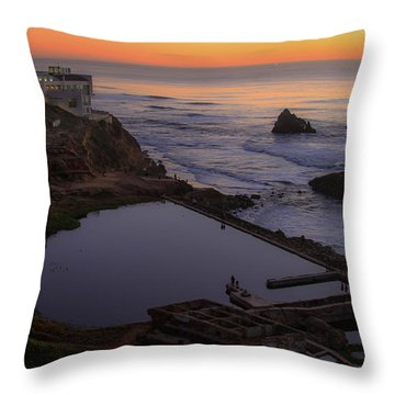 Dusk At Sutro Baths Throw Pillow