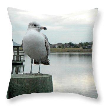 Dusk At The Pier Throw Pillow