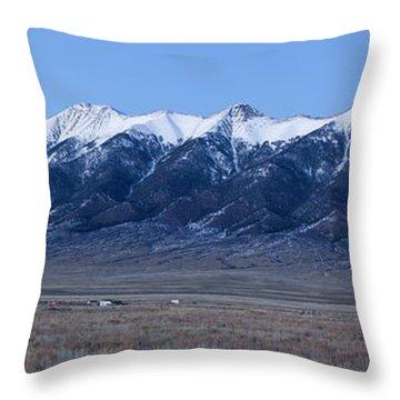 Dusk At The Sangre De Cristo Mountains Throw Pillow