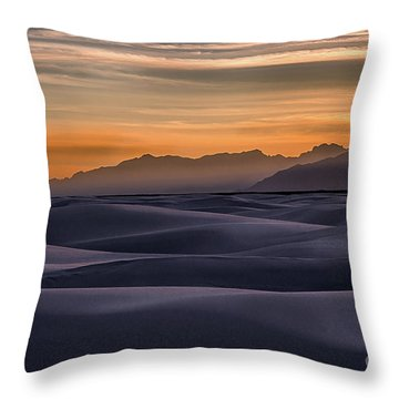 Dusk At White Sands Throw Pillow