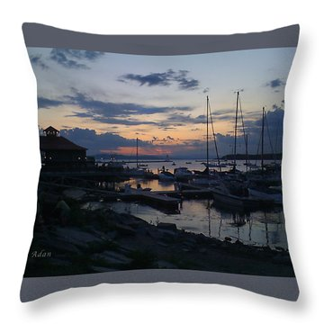 Throw Pillow featuring the photograph Dusk Begins To Sleep by Felipe Adan Lerma