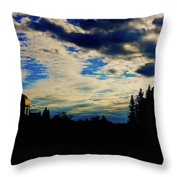 Dusk Church Throw Pillow