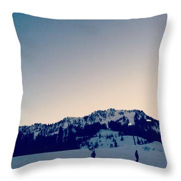 Dusk Throw Pillow by Courtney Crossfield