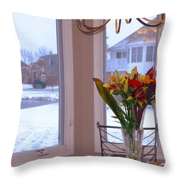 Dusk Dining View Throw Pillow