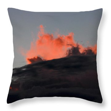 Dusk Eruption Throw Pillow by Kim Cellon