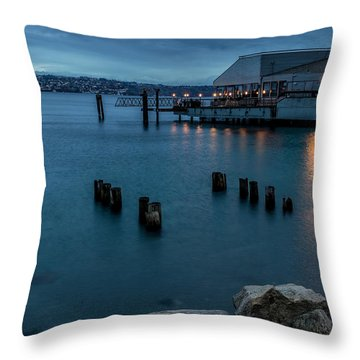 Dusk Falls Over The Lobster Shop Throw Pillow