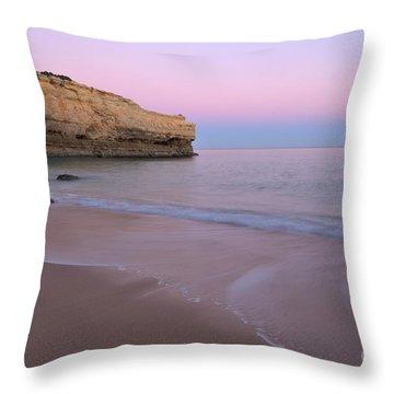 Dusk In Albandeira Beach Throw Pillow