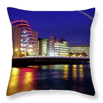 Dusk In Dublin Throw Pillow