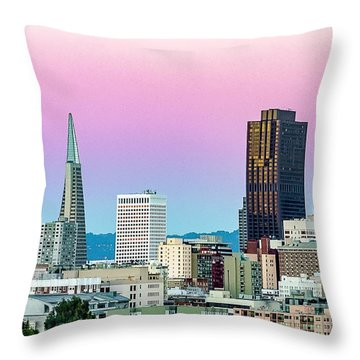 Throw Pillow featuring the photograph Dusk In San Francisco by Bill Gallagher