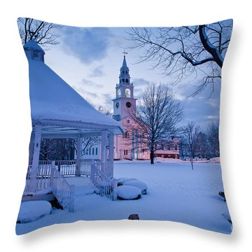 Dusk In Templeton Throw Pillow by Susan Cole Kelly