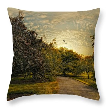 Dusk Throw Pillow by Jessica Jenney