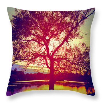Dusk Throw Pillow by Kate Arsenault