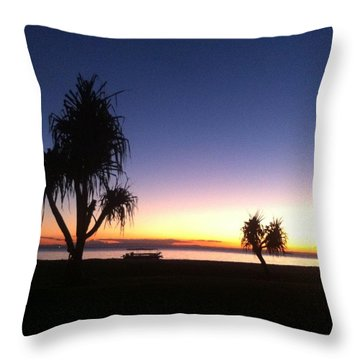 Dusk Throw Pillow by Lee Decibelle Maeko