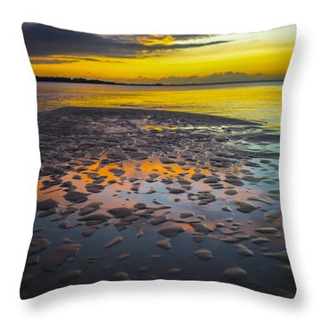 Dusk On Cayo Coco Throw Pillow by Valerie Rosen