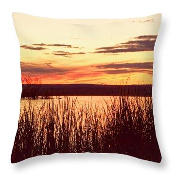 dusk on Lake Superior Throw Pillow