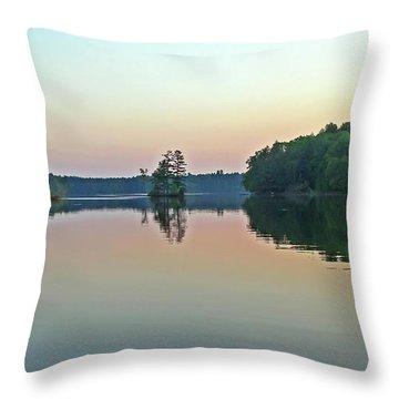Dusk On Long Lake Throw Pillow