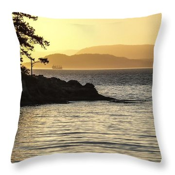 Dusk On Sucia Island Throw Pillow
