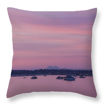 Dusk On The Bay Throw Pillow by Idaho Scenic Images Linda Lantzy