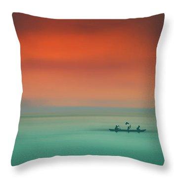 Dusk On The Lake Throw Pillow