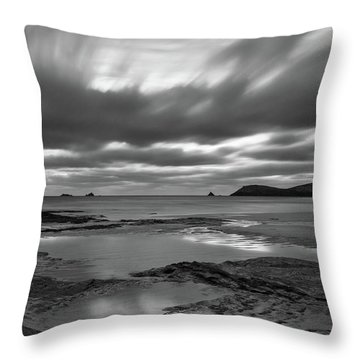 Dusk Over Constantine Bay  Throw Pillow
