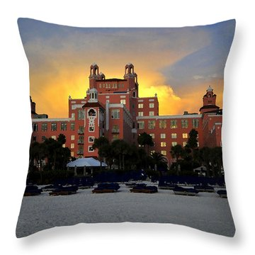 Dusk Over Don Throw Pillow by David Lee Thompson