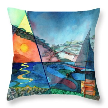 Dusk Over The Chesapeake Throw Pillow