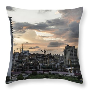 Dusk  Throw Pillow by Rajiv Chopra