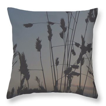 #dusk #sunset #fall #autumn Throw Pillow by Madison Dragna