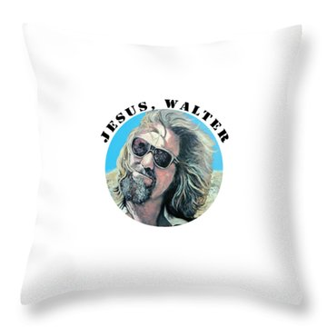 Throw Pillow featuring the painting Dusted by Tom Roderick