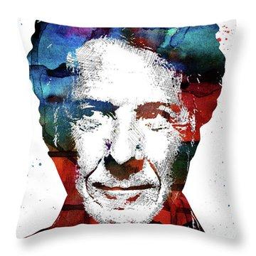 Dustin Hoffman Throw Pillow by Mihaela Pater