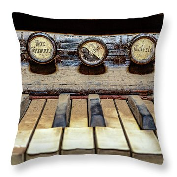 Dusty Old Keyboard Throw Pillow