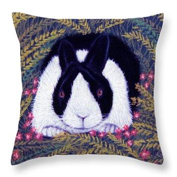 Dutch Bunny Throw Pillow by Jan Amiss