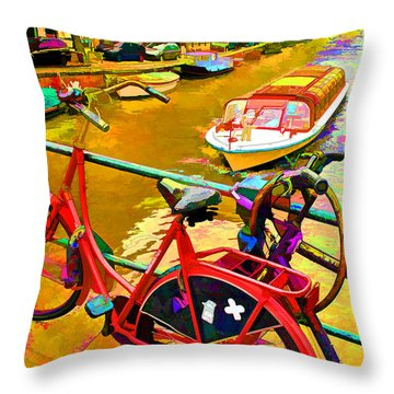 Throw Pillow featuring the photograph Dutch Color by Dennis Cox WorldViews