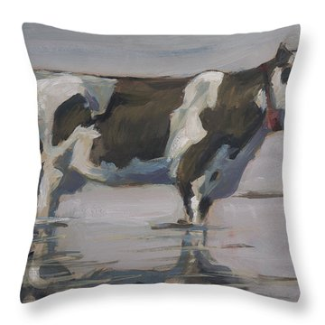 Dutch Cow Cool Down Throw Pillow
