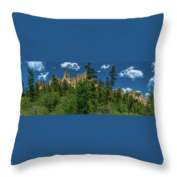 Dutch Creek Hoodoos Near Lake Windermere Throw Pillow