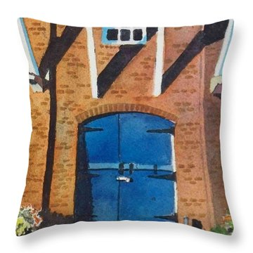 Throw Pillow featuring the painting Dutch Door by LeAnne Sowa