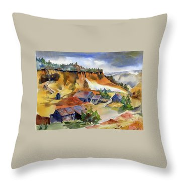 Dutch Flat Diggin's Gold Throw Pillow