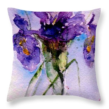 Dutch Iris Throw Pillow